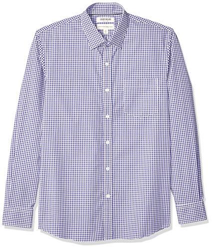Amazon Brand - Goodthreads Men's Standard-fit Long-sleeve Stretch Poplin Button Down Shirt