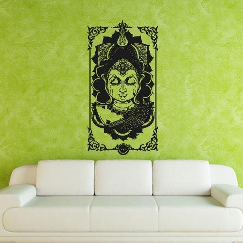 - Wall Decal Buddha India Yoga Coated Gautam Religion Life Teaching bedroom M351