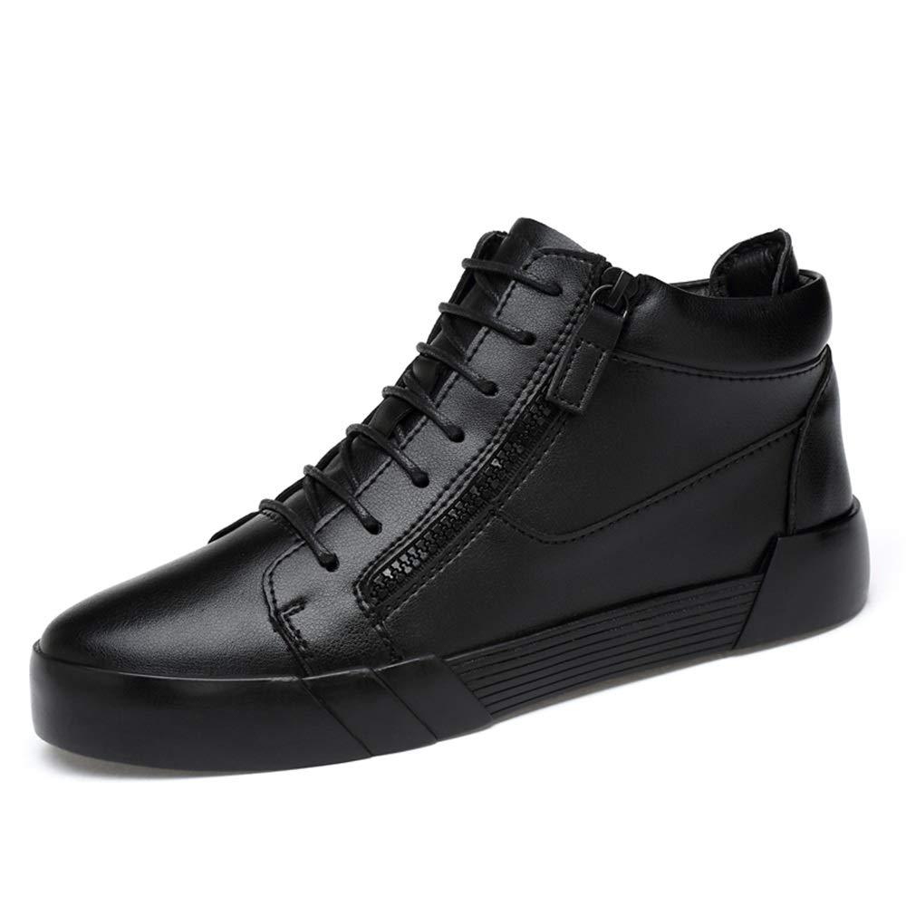 CHENJUAN Schuhe Modische Stiefeletten für Herren Lässige High Top Und (6 cm) Höhere, abnehmbare Höhe Zunehmende Einlegesohle (warmer Samt optional)    Moderate Kosten