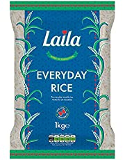Laila Long Grain Rice 1Kg, Aged to Perfection. Versatile Everyday Rice. Perfect for All Rice Dishes Like Curry, Beef, Chicken, Vegetables, Sauce, it Does Not Take Long to Cook