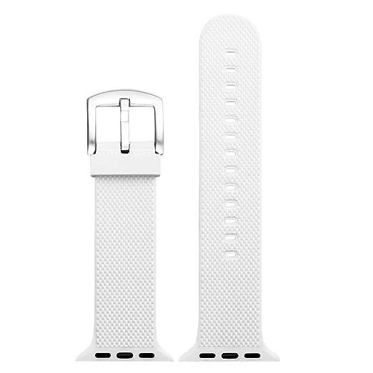 para Apple Watch 4 Iwatch 40mm.44mm Correa de Reloj Suave de Silicona Sports Band para HUAMI Amazfit Stratos Smart Watch Reemplazo de Silicona Suave Correa ...