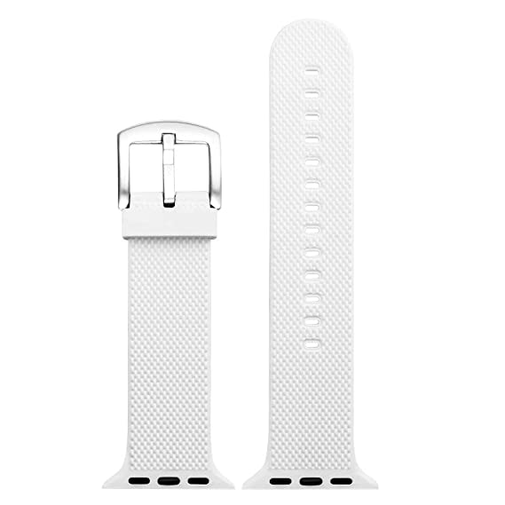 para Apple Watch 4 Iwatch 40mm.44mm Correa de Reloj Suave de Silicona Sports Band para HUAMI Amazfit Stratos Smart Watch Reemplazo de Silicona Suave Correa ...