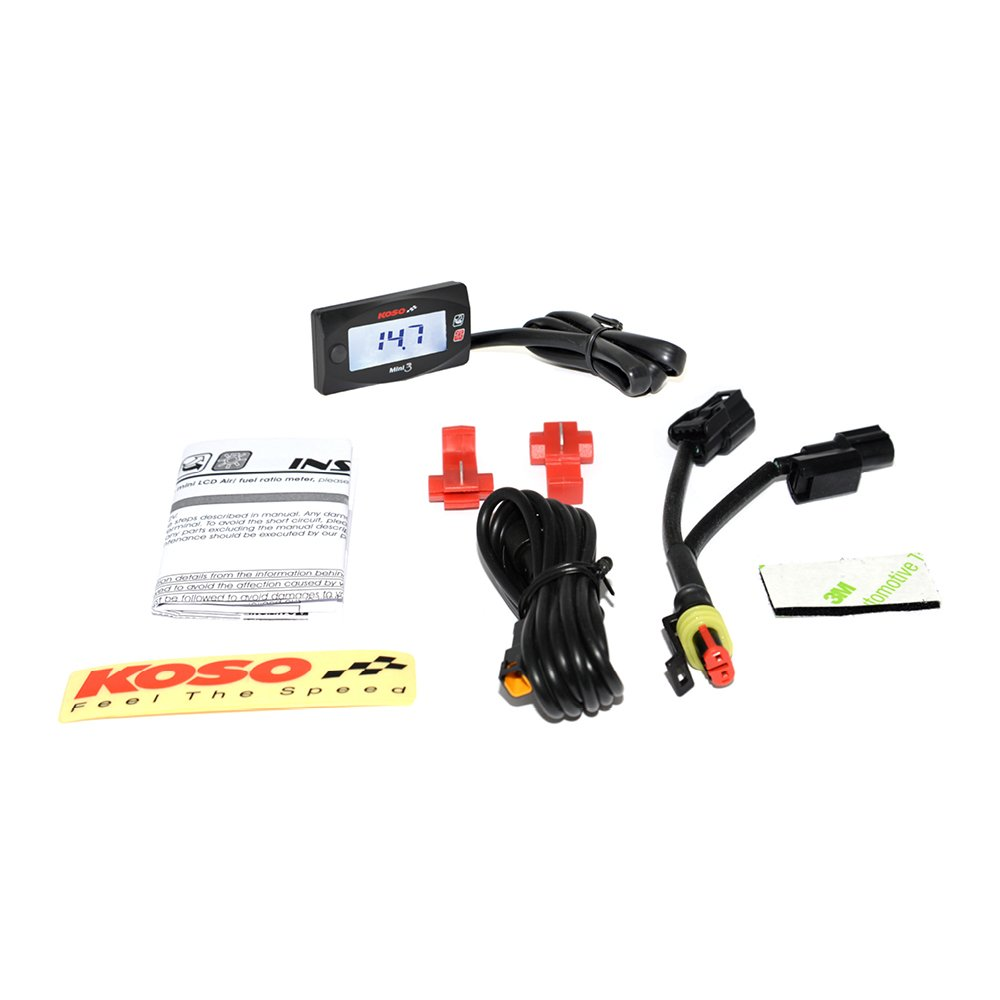 Koso BA003211 Mini 3 Air//Fuel Ratio Gauge