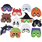 Foam Halloween Masks - 12pk