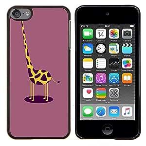 Dragon Case - FOR Apple iPod Touch 6 6th Generation - funny giraffe plum yellow drawing - Caja protectora de pl??stico duro de la cubierta Dise?¡Ào Slim Fit