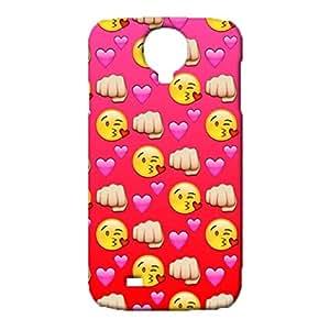 Samsung Galaxy S4 I9500 Emoji Face Cover Case,Cute Popular Emojis Pattern 3D Hard Phone Case Snap on Samsung Galaxy S4 I9500