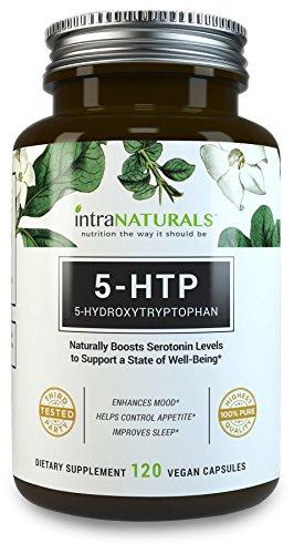 MEILLEUR supplément de 5-HTP | IntraNaturals 5-HTP | 100mg (le Dosage idéal) 120 gélules - contribue à améliorer votre humeur en général, sida en Relaxation & sommeil, augmente l'appétit Control - garantie à vie de IntraNaturals