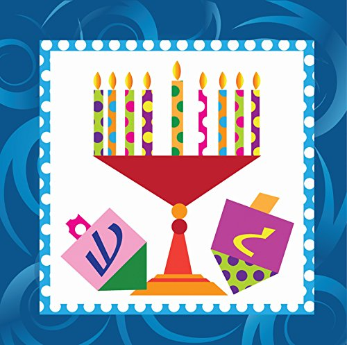 Hanukkah Party Supplies Luncheon or Dessert Napkins Pack of 40 Menorah Design ()