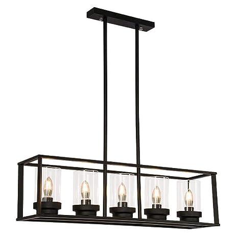 Ver Aung American Home DIY lámpara de cristal rectangular de ...