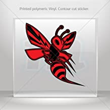 Decal Stickers Red Hornet, Wasp, Vespa Hobbies Motorbike Vehicle Table (8 X 7.65 Inches)
