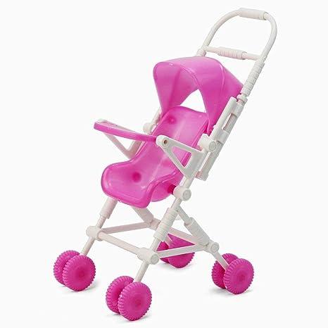Xiton Cochecito plástico Lindo Cochecito Carrito para Muebles Infantiles de Barbie Doll
