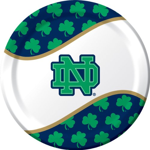 8-Count Paper Dinner Plates, Notre Dame]()