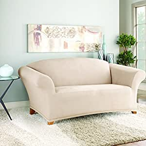 Amazon Com Stretch Suede Separate Seat Loveseat Slipcover
