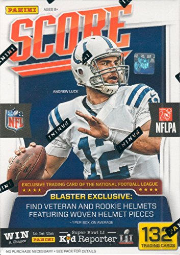 2016 Score NFL Football Unopened Blaster Box of Packs with One EXCLUSIVE Veteran or Rookie Helmet Per Box Featuring Woven Helmet Pieces Try for Jared Goff, Carson Wentz, Paxton Lynch and Others from Unopened Box of Packs