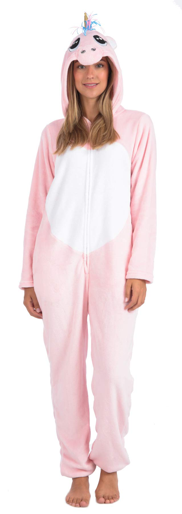 Body Candy Women's Plush Adult Animal Hood Onesie Pajama (Unicorn, Small) by Body Candy Loungewear
