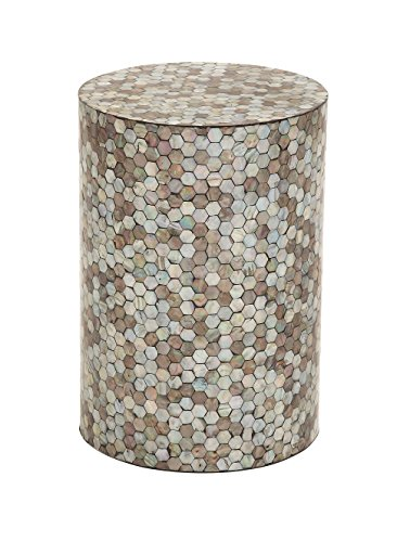 Deco 79 48985 Wood Shell Inlay Accent Table, 14