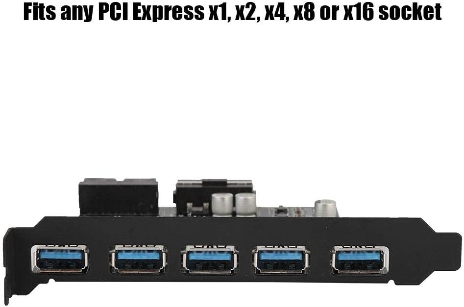 Zer one 5 Ports PCI-E to USB 3.0 19 Pin PCI Express Expansion Card Pcie Riser Connector Adapter Card for Desktop PC