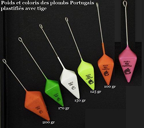 Plomos Portugal + tija plastificadas Lemer oranget Phospho 125 gr: Amazon.es: Deportes y aire libre