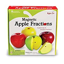 Learning Resources Bring Fractions to Life with These sectioned Apple Magnets