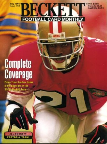 - Beckett Football Monthly May 1995 Deion Sanders/San Francisco 49ers on Cover, Chris Carter/Minnesota Vikings (on back cover), Sterling Sharpe/Green Bay Packers, William Floyd/San Francisco
