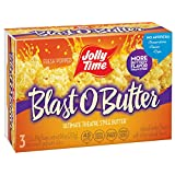 Jolly Time Blast O Butter Ultimate Movie Theatre Microwave Popcorn, 3 Count (Pack of 6) by Jolly Time