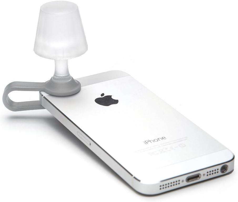 Peleg Design- Luma Smart Mobile Phone Night Light- Tiny Lampshade Clip on Phone Flash Led Light Holder, Grey