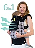LÍLLÉbaby The COMPLETE All Seasons SIX-Position, 360° Ergonomic Baby & Child Carrier, Black 'Soho' - Multi-Position Ergonomic Baby Carrier for Infants Babies Toddlers