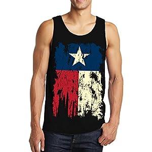 Vintage Distressed Texas Flag Men's Tank Top, SpiritForged Apparel, Black XL