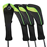 Andux 4 Pack Long Neck Golf Hybrid Club Head Covers Interchangeable No. Tag CTMT-01 (Green)