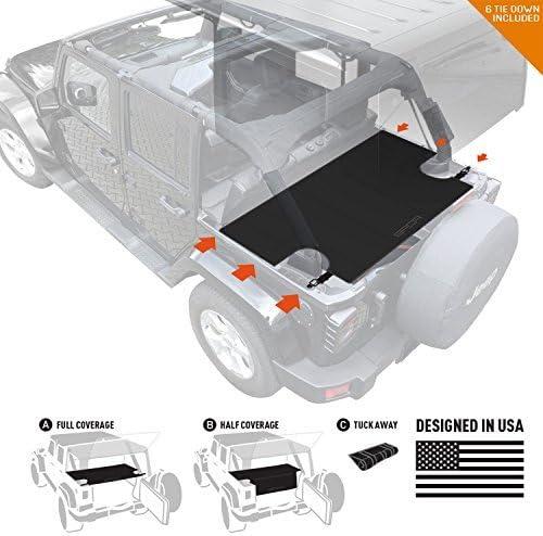 GPCA Cargo Cover LITE Plus for Jeep Wrangler JK 4DR Sport//Sahara//Freedom//Rubicon Unlimited 2007-2018 Models Upgraded