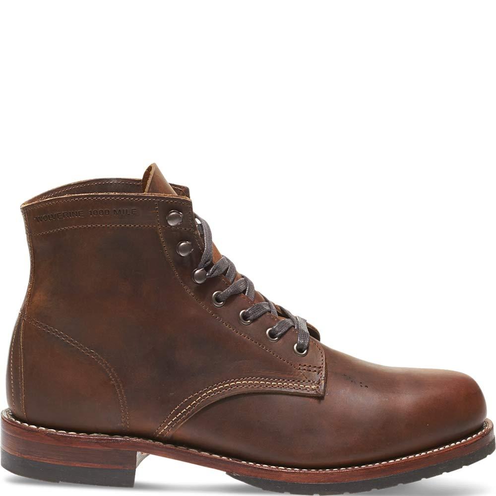 Wolverine Evans 1000 Mile Boot Men 10.5 Brown Leather