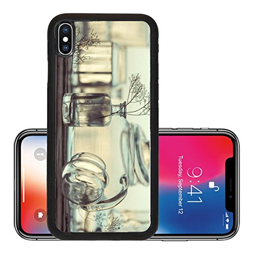 iPhone X Aluminum Backplate Bumper Snap Case IMAGE ID 33065271 Unique Still Life of Different Glassware vintage style background (Glassware Carriers)