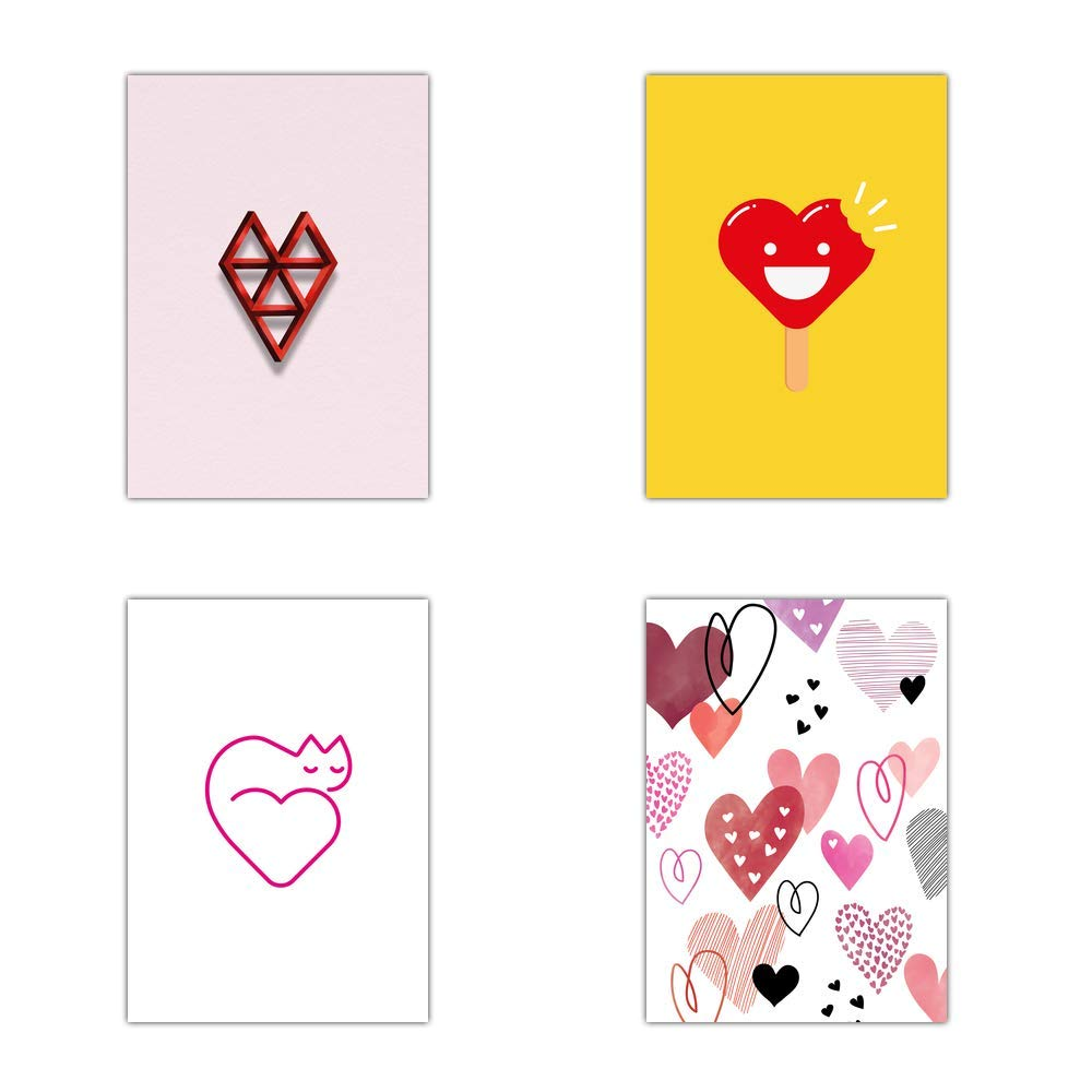 Tarjeta de amor con corazones - Juego de 16 tarjetas diferentes ...