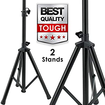 Pair EMB SS06 Heavy Duty Adjustable Height Tripod DJ PA Speaker Stand Universal - 2 Stands from EMB