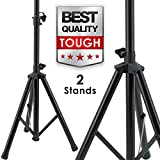 Pair EMB SS06 Heavy Duty Adjustable Height Tripod DJ PA Speaker Stand Universal - 2 Stands