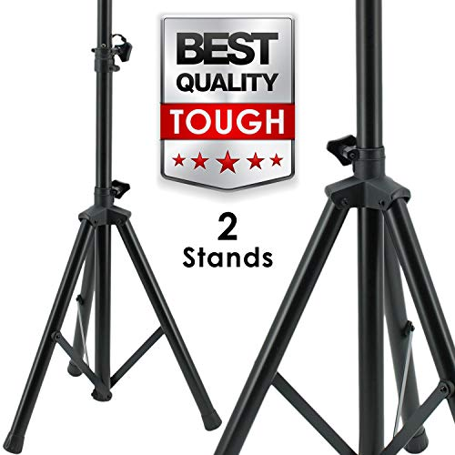 Pair EMB SS06 Heavy Duty Adjustable Height Tripod DJ PA Speaker Stand Universal - 2 ()