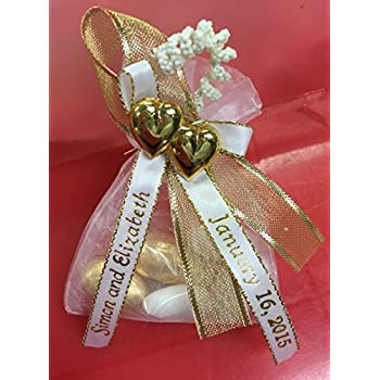 Amazon 100 Personalized Ribbon 14 Or 38 Wedding Birthday