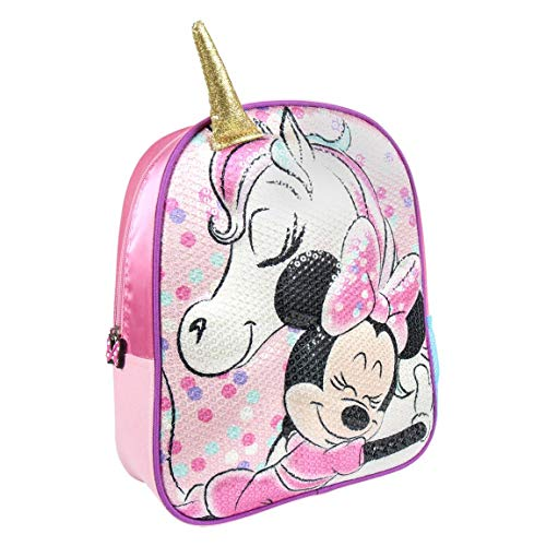 Comprar Mochila Infantil 3D Minnie, Rosa, 31 cm - Material escolar para la Vuelta al Cole - Tiendas Online Envíos Baratos o Gratis