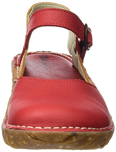El Naturalista S.A N178 Soft Grain Yggdrasil - I tacchi alti con punta chiusa Donna, Rosso (Grosella / Carrot), 42 EU