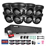 ANNKE 8CH 720P HD-TVI Security DVR System with 1TB Hard Drive and (8) HD 720P Weatherproof CCTV Cameras, IR-Cut Day/Night Vision