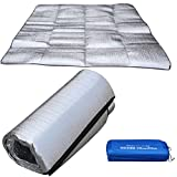 Camping & Hiking,Dartphew 1Pcs Camping Silver Mat Double-side Waterproof Aluminum Foil EVA,Foldable for Outdoor Camping Sleeping Picnic Beach,Easy Storage Portability(Size:2m1.5m)