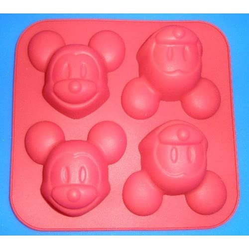 Creativemoldstore 1pcs 4-Mickey Mouse(HY1-027) Silicone Cake/Jelly/Pudding Baking Pan DIY Mold