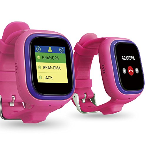 NEW TickTalk 2.0 Touch Screen Kids Smart Watch, GPS Phone watch, Anti Lost GPS tracker with New App, Better Positioning Chip, Things To Do Reminder, Phone/Messaging (SIM CARD INCLUDED) (Pink) by TickTalk (Image #1)