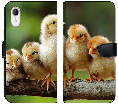 Apple iPhone XR Flip Fabric Wallet Case Group Portrait of Cute Chicks Image 15252574 Customized Tablemats Stain Resistance ()