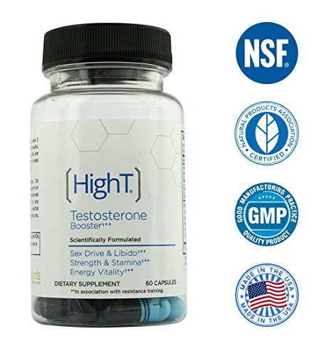 High T Testosterone Booster Supplement, 60 Count
