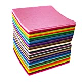 88pcs 4 x 4 inches (10 x 10cm) Assorted Color Mini Felt Fabric Sheets Patchwork Sewing DIY Craft 1mm Thick