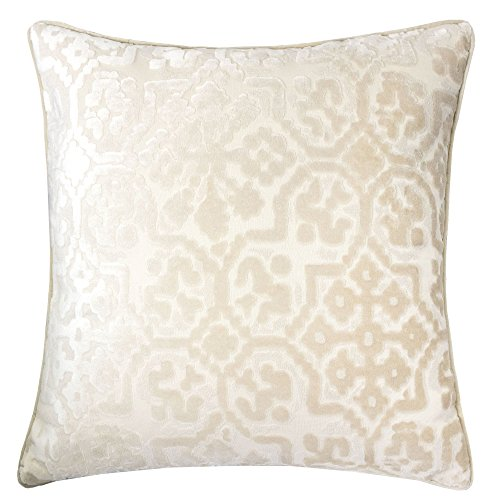 Home Accent Pillows Homey Cozy Modern Velvet Throw Pillow Cover,Ivory White Luxury Soft Fuzzy Co ...