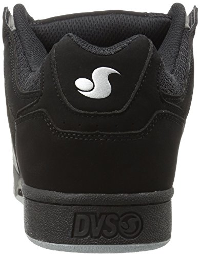 DVS Shoes Celsius, Scarpe da Skateboard da Uomo Black Charcoal/Grey Leather Nubuck