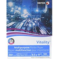 Vitality Xerox Multipurpose LaserJet/Inkjet Copy Paper for HP/Xerox/Konica/Brother Printer