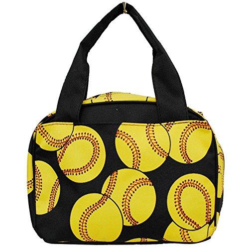 Softball Print NGIL Insulated Lunch Tote Bag